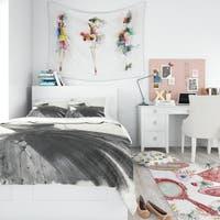 Designart 'Glam and Fashion Feminine III' Teenage Bedding Set - Duvet Cover & Shams