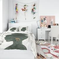 Designart 'Glam Pink Ladies II' Teenage Bedding Set - Duvet Cover & Shams