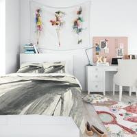 Designart 'Glam Dancing II' Teenage Bedding Set - Duvet Cover & Shams