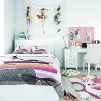 Designart 'Paris Glamourous Gold Style I' Teenage Bedding Set - Duvet Cover & Shams