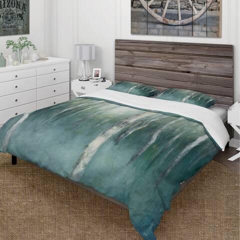 Designart 'Green Forest Dream' Cottage Bedding Set - Duvet Cover & Shams