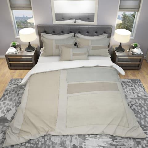 Designart 'Painted Weaving III FB' Geometric Bedding Set - Duvet Cover & Shams