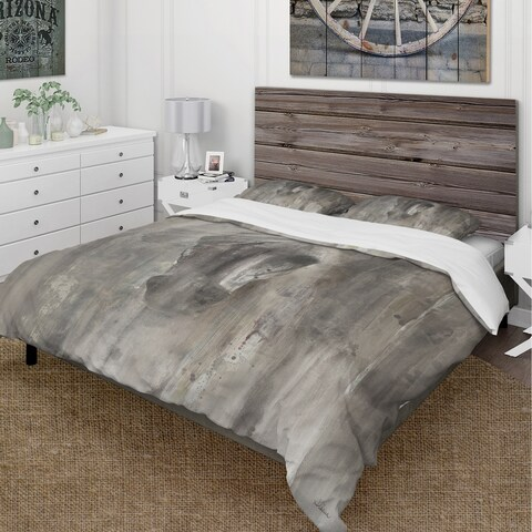 Designart 'Farmhouse Horse' Cottage Bedding Set - Duvet Cover & Shams