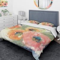 Designart 'Buttercup I' Traditional Bedding Set - Duvet Cover & Shams