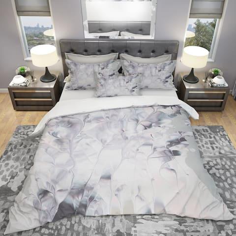Designart 'Light and Shadow II' Geometric Bedding Set - Duvet Cover & Shams