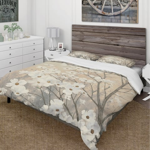 Carbon Loft Gigliotti Brown and Grey Floral Bedding Set