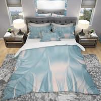 Designart 'Abstract Water I' Geometric Bedding Set - Duvet Cover & Shams