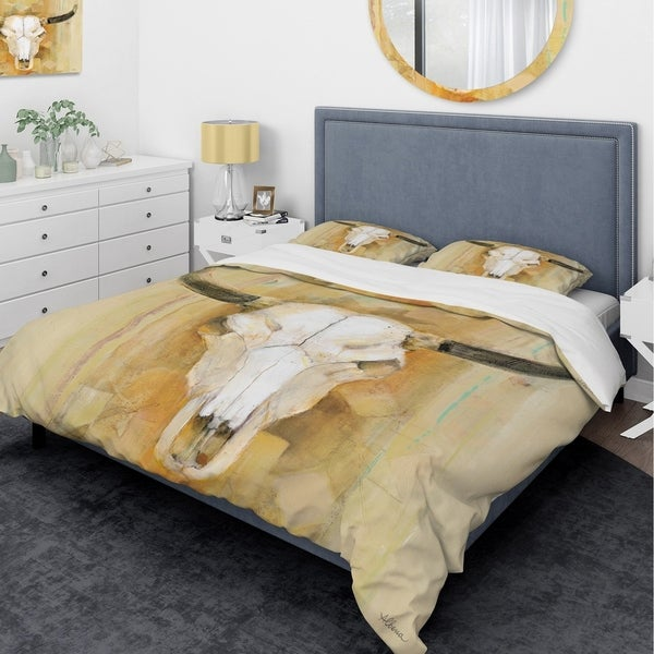 Shop Designart His Southwest Bones Glam Bedding Set