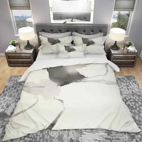 Designart 'minimal geometric Gesture I' Geometric Bedding Set - Duvet Cover & Shams