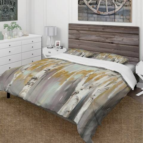 Carbon Loft Gigliotti Yellow Forest Print Bedding Set