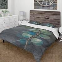 Designart 'Fresh leaves II' Cottage Bedding Set - Duvet Cover & Shams