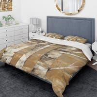 Designart 'Natural Birch Forest I' Traditional Bedding Set - Duvet Cover & Shams