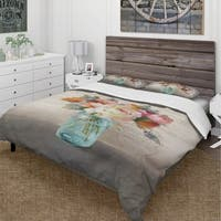 Designart 'French Cottage Bouquet II Mothers' Cottage Bedding Set - Duvet Cover & Shams