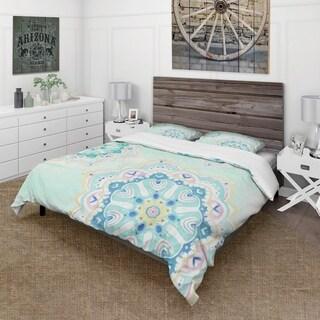 Designart 'Watercolor mandalas IV' Cottage Bedding Set - Duvet Cover & Shams