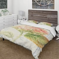 Designart 'Floursack Florals VIII' Cottage Bedding Set - Duvet Cover & Shams