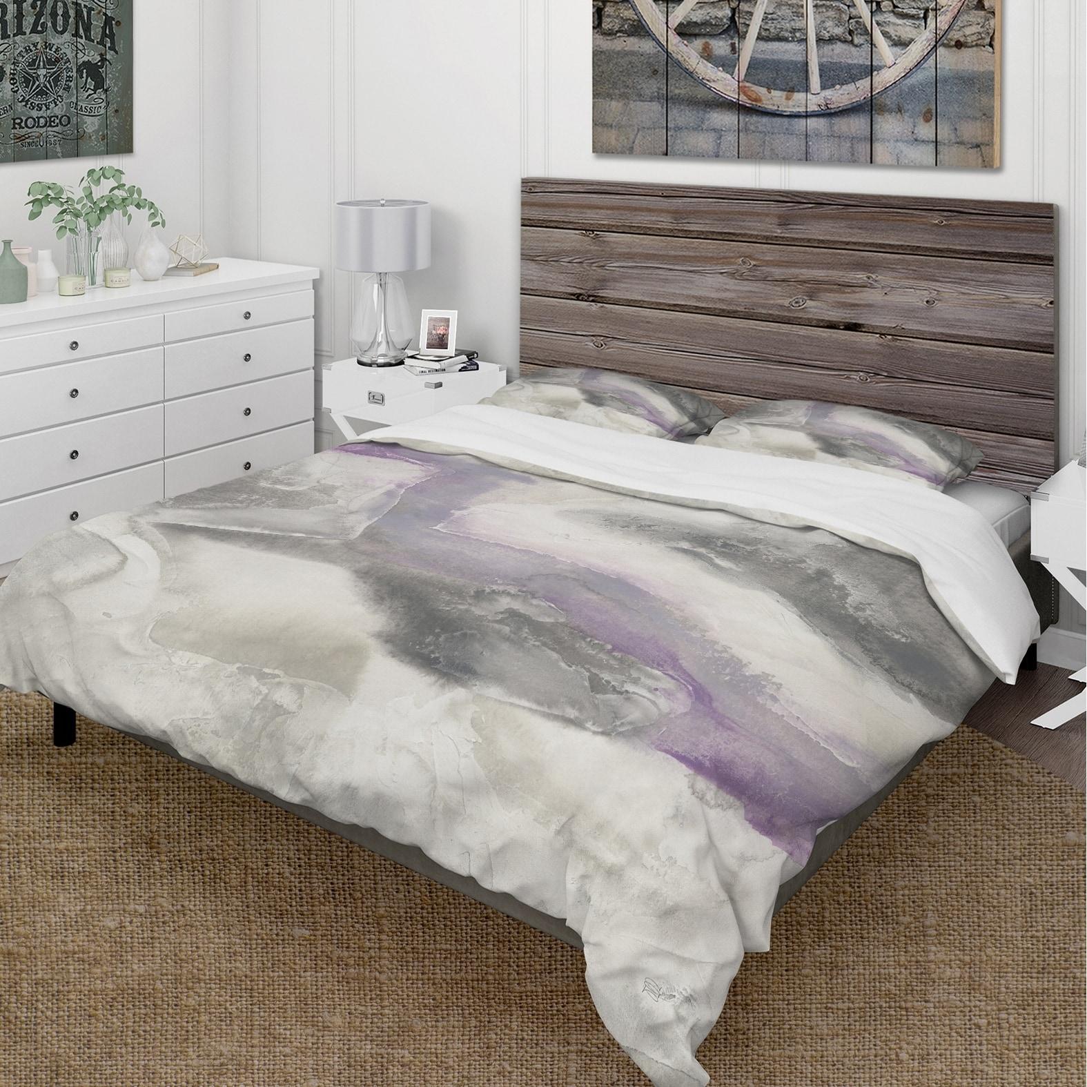 Violet Cottage Floral Printed Duvet Quilt Cover And Pillow Case Bedding Set Home Garden Duvet Covers Bedding Sets
