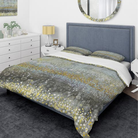 Designart 'Glam Rain Abstract III' Glam Bedding Set - Duvet Cover & Shams - Multi-color