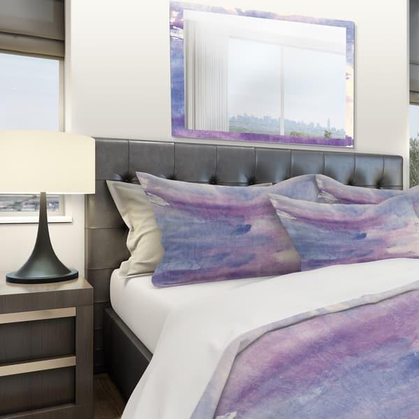Designart Watercolor Purple Haze Ii Geometric Bedding Set Duvet Cover Shams On Sale Overstock 25971315