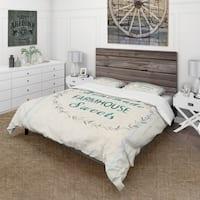 Designart 'Farmhouse Florals VIII' Farmhouse Bedding Set - Duvet Cover & Shams