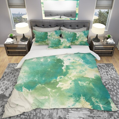 Designart 'Watercolor Rock I' Geometric Bedding Set - Duvet Cover & Shams