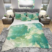 Designart 'Watercolor Rock I' Geometric Bedding Set - Duvet Cover & Shams