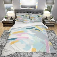 Designart 'Geometric Vortex II' Geometric Bedding Set - Duvet Cover & Shams