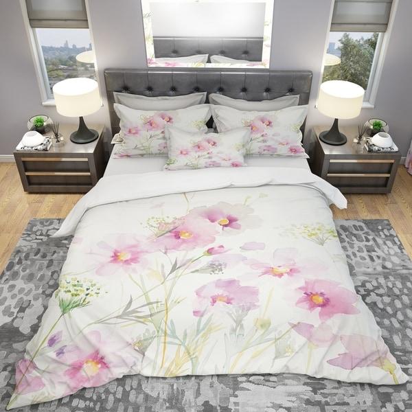 Designart 'Shabby Flower IV' Shabby Bedding Set - Duvet Cover & Shams