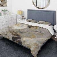 Designart 'Glam Gold Desert Neutral' Glam Bedding Set - Duvet Cover & Shams
