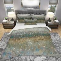 Designart 'Brown Rain' Geometric Bedding Set - Duvet Cover & Shams