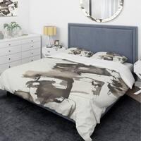 Designart 'Geometric Glam Square II' Glam Bedding Set - Duvet Cover & Shams
