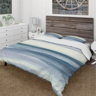 Designart - Mint Indigo Dawn I - Cottage Duvet Cover Set