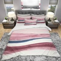 Designart 'Patch of Dirty Pink II' Geometric Bedding Set - Duvet Cover & Shams