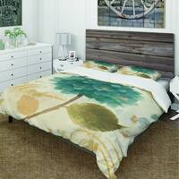 Designart 'Blue Cottage Flower Hydrangea I' Cottage Bedding Set - Duvet Cover & Shams