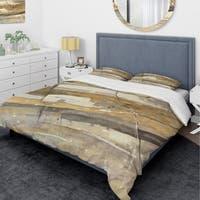Designart 'Fire and Ice Minerals V' Glam Bedding Set - Duvet Cover & Shams