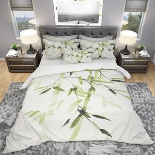 Link to Designart 'Simplist Bamboo Leaves II' Cottage Bedding Set - Duvet Cover & Shams Similar Items in Duvet Covers & Sets