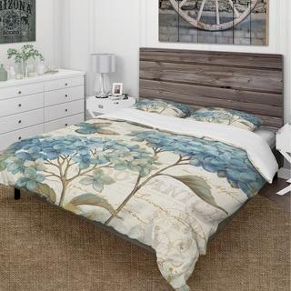 Link to Designart 'butterfly Blue Garden II' Cottage Bedding Set - Duvet Cover & Shams Similar Items in Duvet Covers & Sets