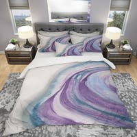 Designart 'Watercolor Geode II' Geometric Bedding Set - Duvet Cover & Shams
