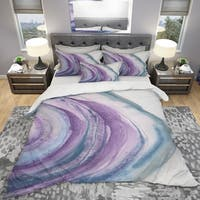Designart 'Watercolor Geode I' Geometric Bedding Set - Duvet Cover & Shams