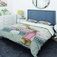 Designart 'Glam fashion High Heels III' Glam Bedding Set - Duvet Cover & Shams