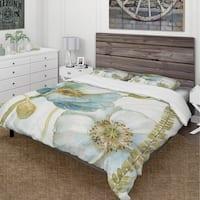 Designart 'My Greenhouse Cottage Flowers III' Cottage Bedding Set - Duvet Cover & Shams