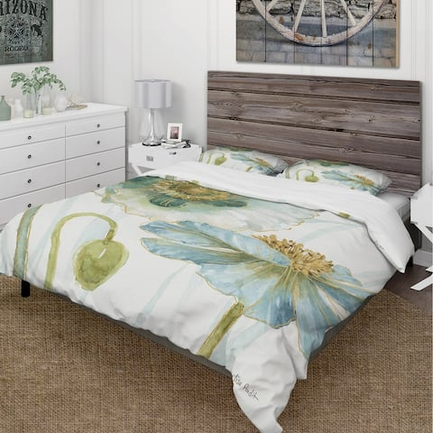 Designart 'My Greenhouse Cottage Flowers II' Cottage Bedding Set - Duvet Cover & Shams
