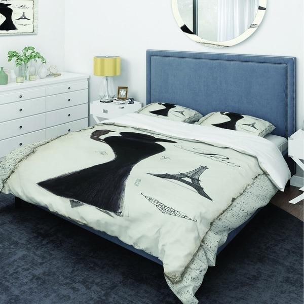 Shop Designart Elegance Glam Paris Diva I Glam Bedding
