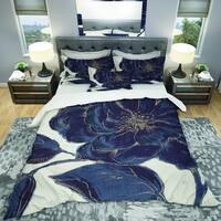 Designart 'Dark Rose Gilded Gold' Shabby Bedding Set - Duvet Cover & Shams