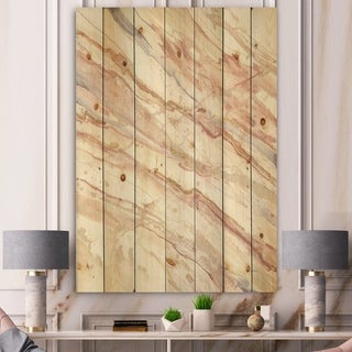 Designart 'Copper Dreams watercolor ' Sleek & Chic Modern Print on Natural Pine Wood - Multi-color