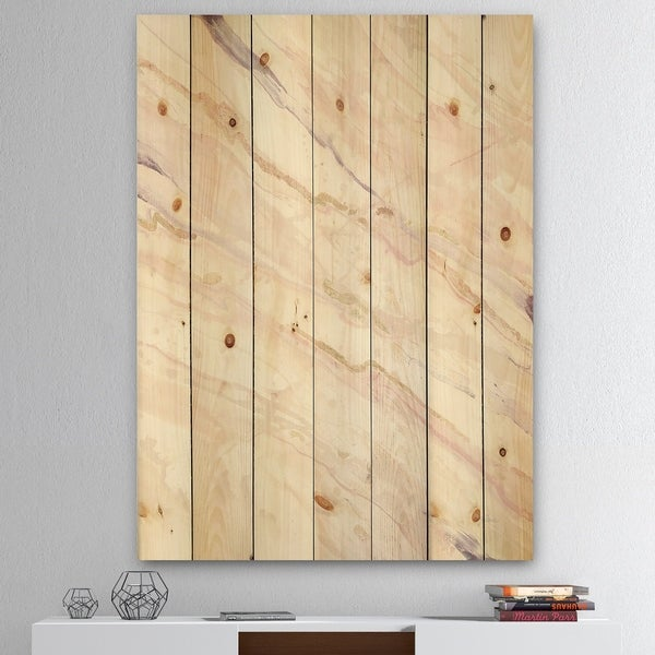 Designart 'Copper Dreams Geometric' Modern Farmhouse Print on Natural Pine Wood - Multi-color