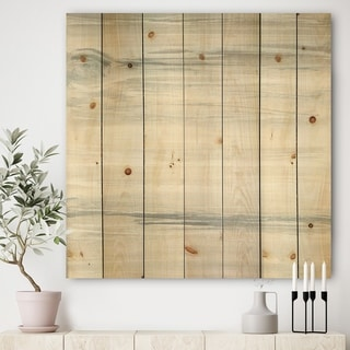 Designart 'watercolor colorfields I' Glam Print on Natural Pine Wood - Grey