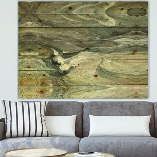Designart 'Natural earth tone' Modern & Contemporary Print on Natural Pine Wood - Grey