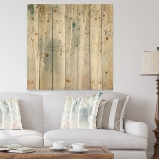 Porch & Den A Woodland Walk into the Forest VI' Modern Farmhouse Print on Natural Pine Wood - Grey