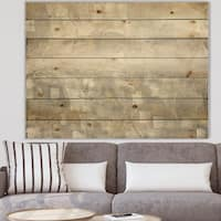 Designart 'Gray Abstract Watercolor' Contemporary Print on Natural Pine Wood - Grey