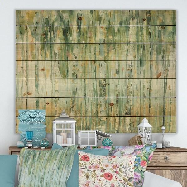 Porch & Den Golden Birch Forest V' Print on Natural Pine Wood
